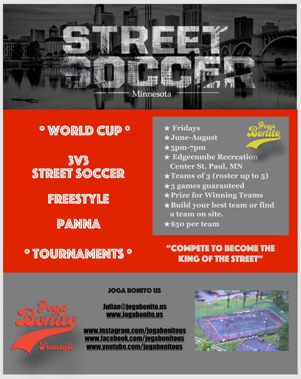 Joga Bonito Street Soccer Tournament Flyer -1