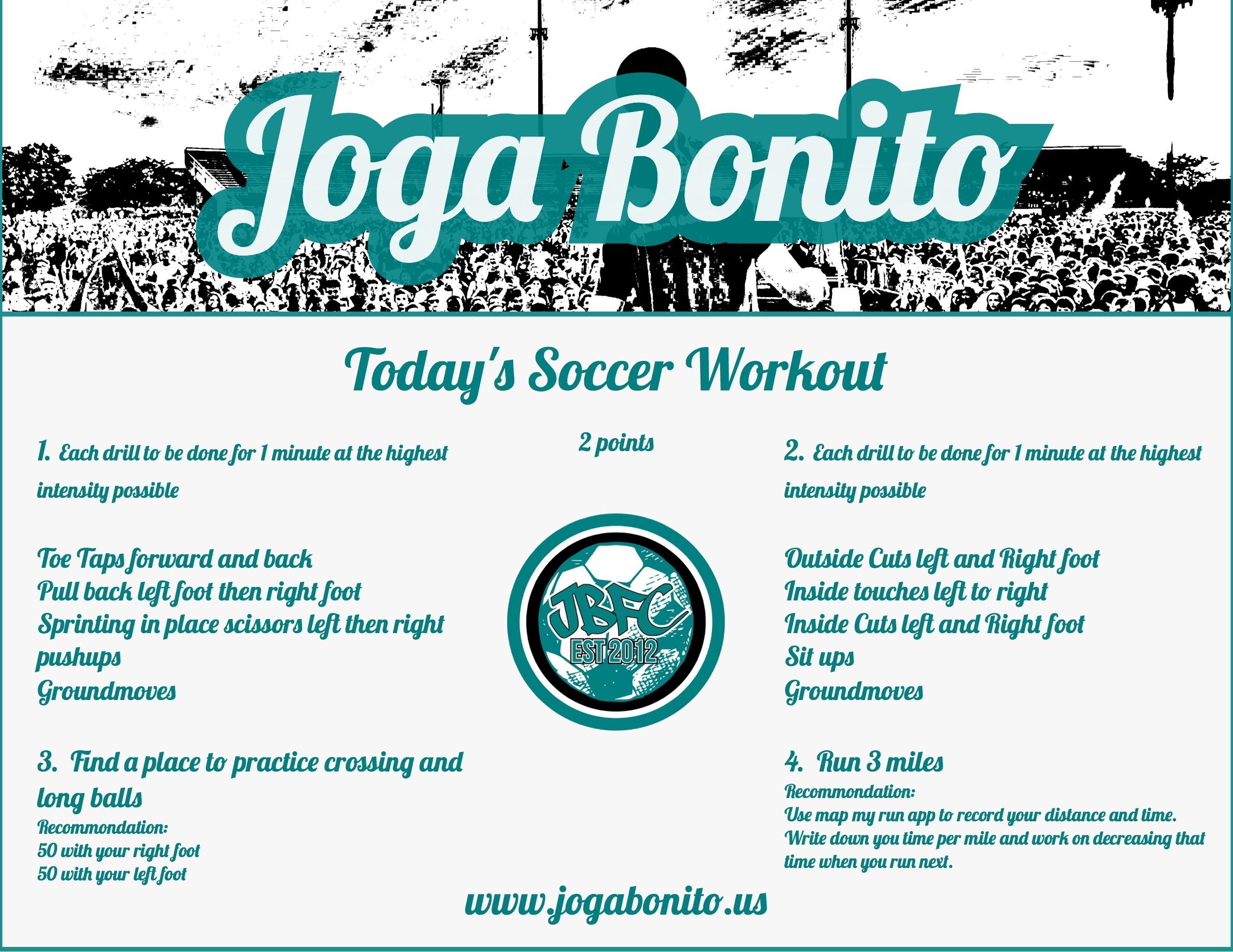 Soccer Workout April 18 2020