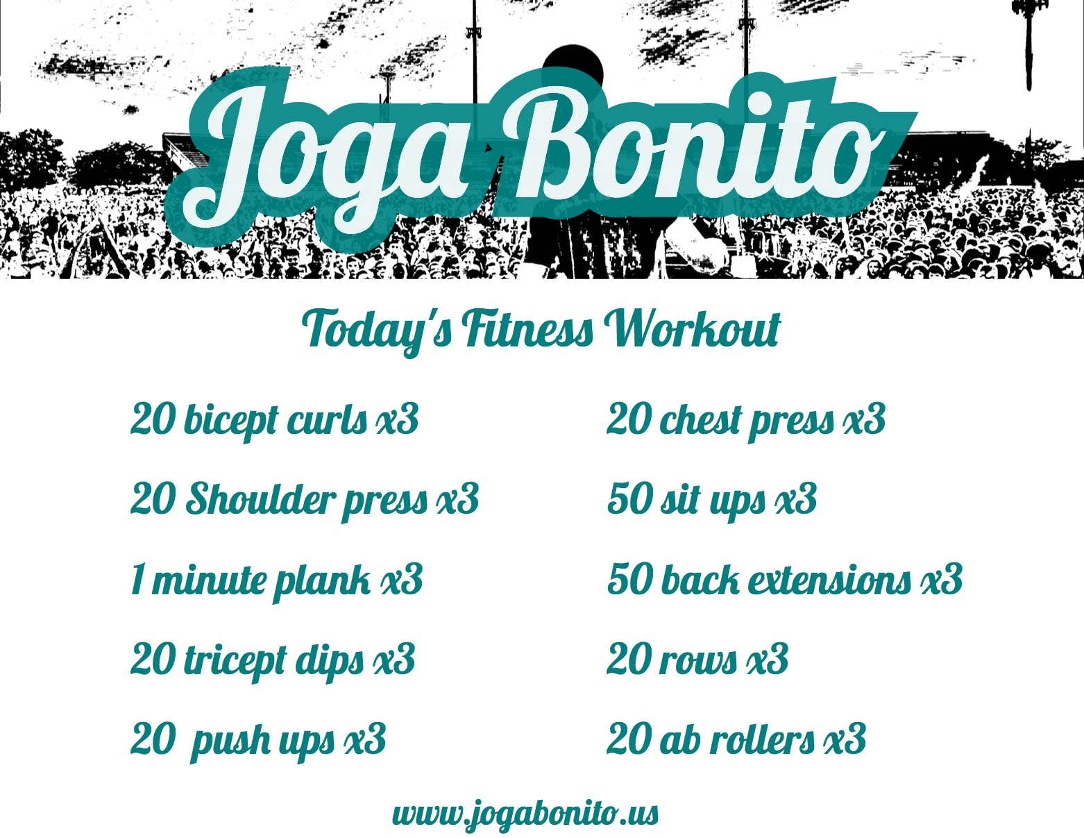 Today's Fitness Workout April 10, 2020