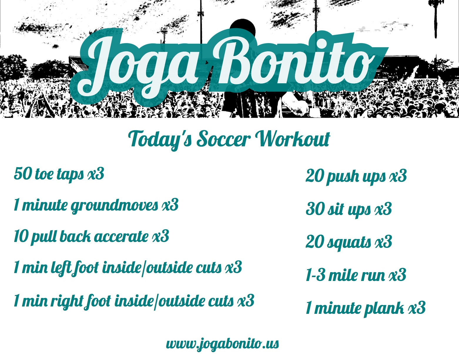 Today's Soccer Workout Aprill 11